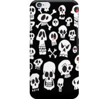 Fun Hand Drawn Skulls iPhone Case/Skin