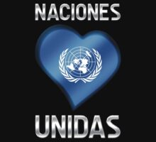 Naciones Unidas - United Nations Flag Heart & Text - Metallic by graphix