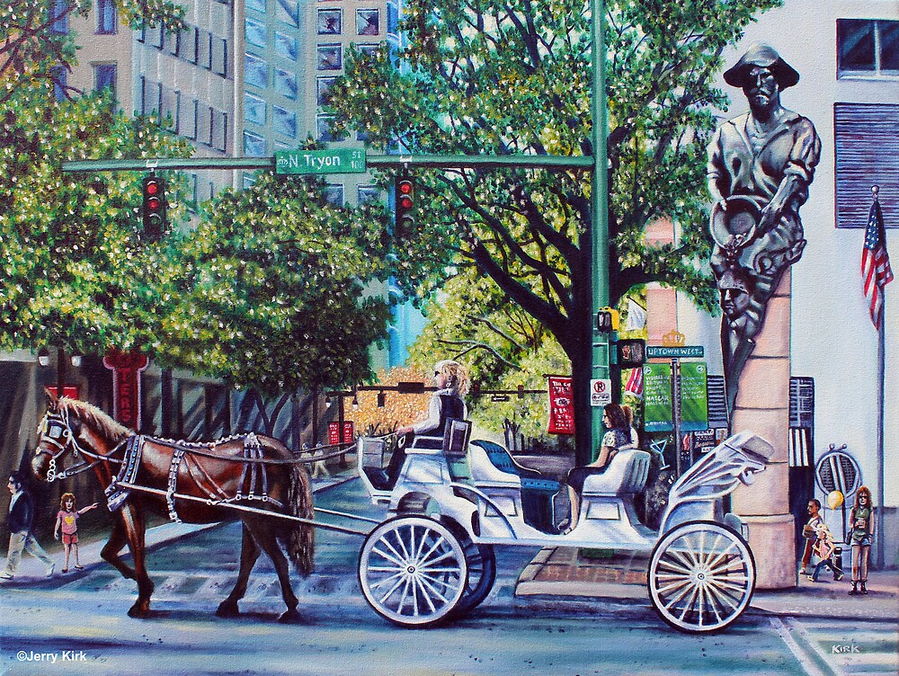 'UPTOWN CHARLOTTE, SATURDAY AFTERNOON'  by Jerry Kirk
