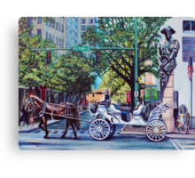 'UPTOWN CHARLOTTE, SATURDAY AFTERNOON'  Canvas Print