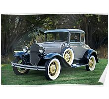 1931 Ford Model A Coupe III Poster