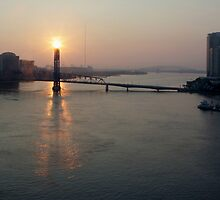 Blue Bridge Morning by Carol Bailey White