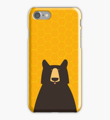 Black Bear Honeycomb iPhone Case/Skin