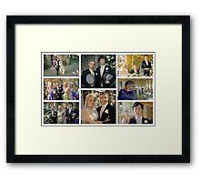John and Mary Watson's Wedding Sherlock BBC   Framed Print