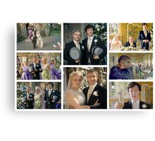 John and Mary Watson's Wedding Sherlock BBC   Canvas Print