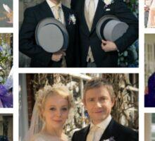 John and Mary Watson's Wedding Sherlock BBC   Sticker