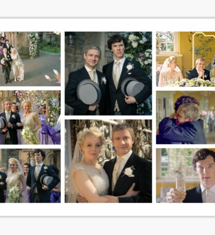 John and Mary Watson's Wedding Sherlock BBC   Sticker
