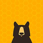 Black Bear Honeycomb by andyjdufort