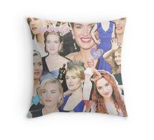 kate winslet collage Throw Pillow