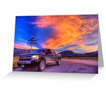Silverado Sunset, outside Salida, Colorado Greeting Card