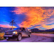 Silverado Sunset, outside Salida, Colorado Photographic Print