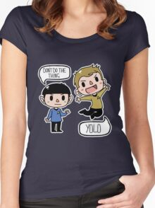 Star Trek - Spock and Kirk Women's Fitted Scoop T-Shirt