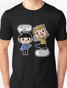 Star Trek - Spock and Kirk Unisex T-Shirt
