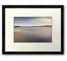 Calm wave Framed Print