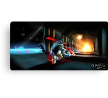 Escape the Death Egg Sonic Canvas Print