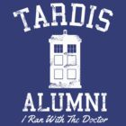 DOCTOR WHO TARDIS ALUMNI WHITE TEXT by thischarmingfan
