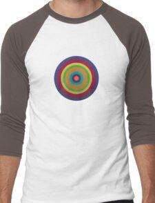 CIRCLE blue green yellow orange red violet  Men's Baseball ¾ T-Shirt