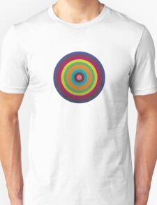 CIRCLE blue green yellow orange red violet  Unisex T-Shirt
