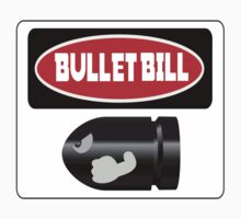 BULLET BILL, FUNNY DANGER STYLE FAKE SAFETY SIGN by DangerSigns