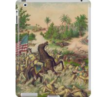 Philippine-American War Battle of Quingua April 23 1899 by Kurz & Allison iPad Case/Skin