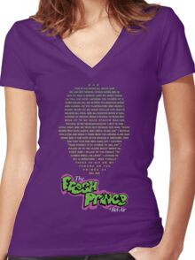 The Fresh Prince of Bel-Air  Women's Fitted V-Neck T-Shirt