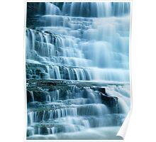 Closeup of beautiful cascade waterfall art photo print Poster