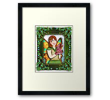 A Fairy and Her Dragon Framed Print