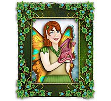 A Fairy and Her Dragon Photographic Print