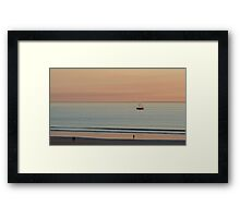 Broome - a lugger at sunset Framed Print