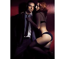 Artistic photo of sexy young couple in dramatic light art photo print Photographic Print