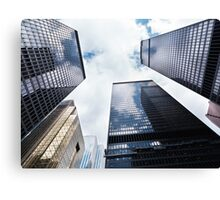 Toronto downtown towers low angle view art photo print Canvas Print