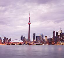 Toronto downtown skyline panoramic city scenery art photo print by ArtNudePhotos