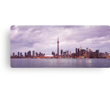 Toronto downtown skyline panoramic city scenery art photo print Canvas Print
