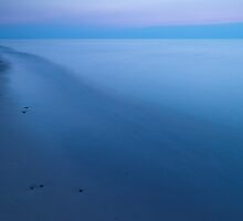 Calm lake Huron at dusk art photo print by ArtNudePhotos