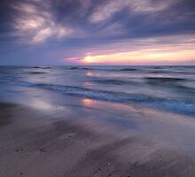 Beautiful sunset on shore of lake Huron art photo print by ArtNudePhotos