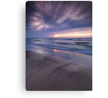 Beautiful sunset on shore of lake Huron art photo print Canvas Print