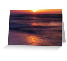 Sun setting down over Huron lake art photo print Greeting Card