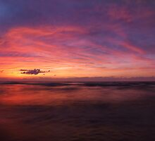 Colorful panoramic sunset scenery of lake Huron art photo print by ArtNudePhotos