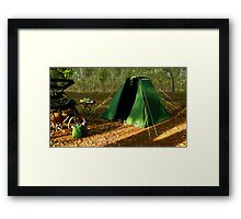 Safari Tent Framed Print