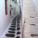 Streets of Mykonos by Barbara  Brown
