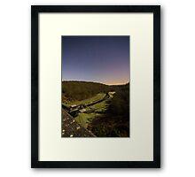 Overlooking Thruscross Reservoir toward the glowing horizon A Framed Print