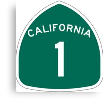 California 1 State Highway - PCH Canvas Print