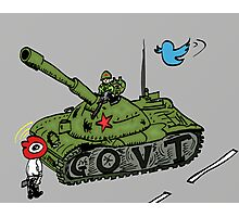 Chine vs Social Media caricature Photographic Print