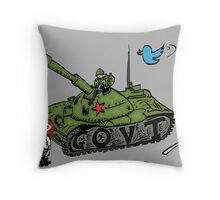 Chine vs Social Media caricature Throw Pillow