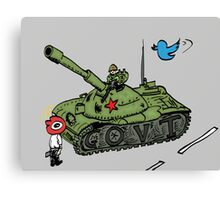 China vs. Social Media editorial cartoon Canvas Print