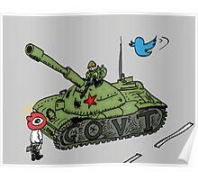China vs. Social Media editorial cartoon Poster