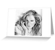 Emma Watson sketch Greeting Card