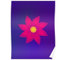 Red Flower in Space Art Poster