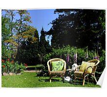 Morning Tea in The Garden Poster