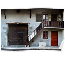 Typical Old French House. Ferney-Voltaire Poster